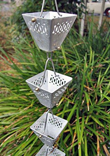 RegenKette zu cup Aluminium für Dachrinnen ForHome® - Fähigkeit Drain 3,5/5 - Kompletter Kettensatz
