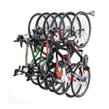 Quality Pro Bike Storage Rack, 6 Cycle Wall Storage Hanger, wall Mount Bicycle Rack For Home & Garage Can Hold Up to 300lbs