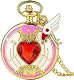 Vintage Pocket Watch Anime Sailor Moon Girl Girls Montres de poche Star Wing...