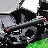デイトナ バイク用 クランプバー Ninja400/250専用 マルチバーホルダー レッド 17862