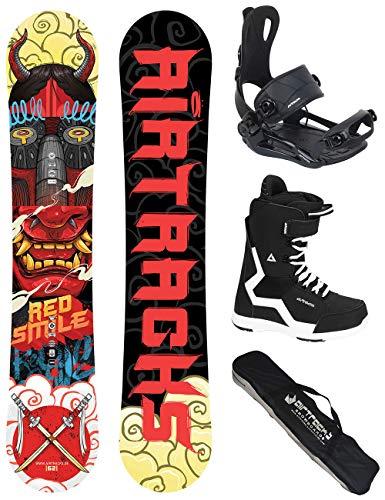 Airtracks Snow board completo set/Board Red Smile Wide Hybrid Rocker + Attacchi Snowboard Star +...