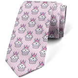 Cravate, Cupcakes Floral Polka Dots, Baby Pink Multicolor