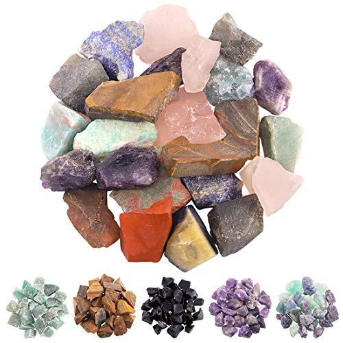 Rustark 1 lb Chakra Stone Tumbled Stone Crystal Kit 10 Kinds...