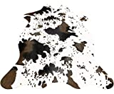 Cow Print Rug Faux Cowhide Area Carpet Animal Print Mat for Living Room Bedroom Non-Slip 3.6x2.5FT (110cmx75cm)