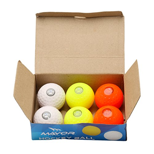 Mayor Stanford Dimpled Hollow Hockey Ball - Pack of 6