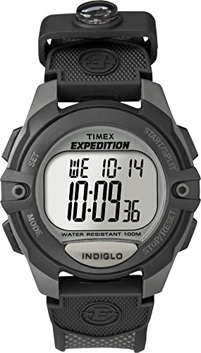 Timex Men's T40941 Expedition Full-Size Digital CAT Charcoal/Black Resin Strap Watch