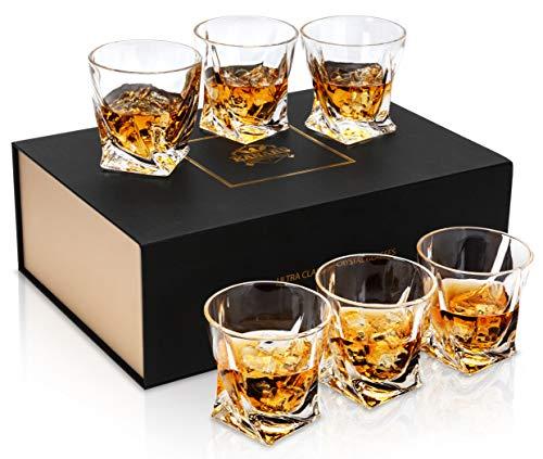 KANARS 6 Pezzi Bicchieri Whisky, Bicchiere Cocktail e Whiskey Cristallo, Bellissimo Regalo, 300ml