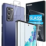 """【4 Pack】 Rhidon 2 Pack Tempered Glass Screen Protector for Samsung Galaxy S20 FE(6.5"""")+2 Pack..."""