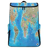 Travel Backpack INSIDE INTERACTIVE WORLD MAP School Backpack for Women Large Hunting Back Pack