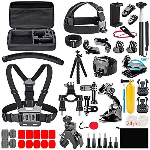 70-In-1 per Gopro Accessori, Kit di accessori per fotocamera, per GoPro Hero 9 8 7 6 5 Session 4 3+ 3 2 1 SJ4000/ SJ5000/SJ6000 DJI AKASO APEMAN Campark Action Camera ecc. (nero)