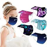 Coversolate 50 Stück Kinder_𝙈undschutz mit Motiv,Bunt Mund Nasenschutz Cartoon Druck mundschutz Atmungsaktiv Bandana für Mädchen Jungen (Mehrfarbig#12)