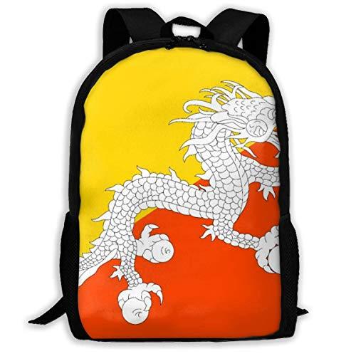 wobuzhidaoshamingzi Mochila Escolar Bandera de Bután Bookba