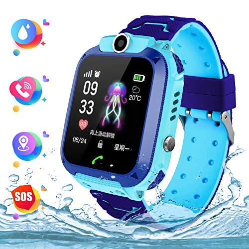 Kids Smart Watch Phone per Bambini IP67 Impermeabile, Orologio Smart Phone LBS Anti-perso con Chat...