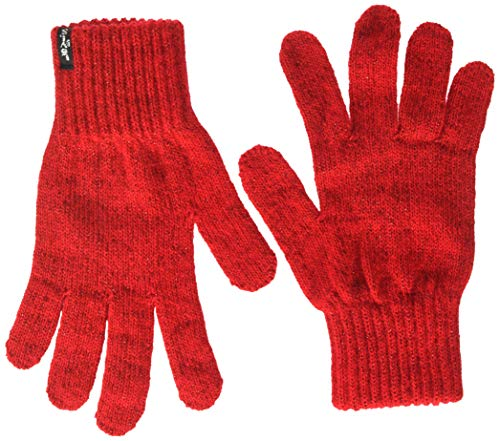 Levi's Lurex Nt Gloves Guanti, Rosso (B Red 88), Small Donna