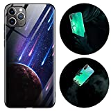 iPhone SE 2020/iphone 7/8 ガラスケース アイフォン SE2/iphone 7/8 ガラスカバー 夜光 蓄光 ……
