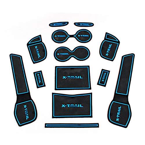 Shengkai ドア保護 新型 日産 エクストレイル T32 専用 滑り止めゴムマットNISSAN X-TRAIL インテリア ドア...