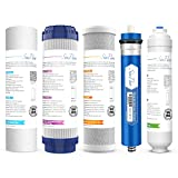 SimPure Reverse Osmosis Filter Replacement, Universal RO Filters Replacement Compatible 5-Stage Reverse Osmosis Water Filtration Systems, Standard 10 inch Water Filters, 5-Pack