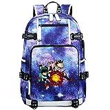 GOYING My Hero Academia Midoriya Izuku/bakugou Katsuki Anime Laptop Backpack Bag Travel Laptop Daypacks Bolso Ligero con USB-A