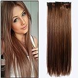 Vtrem 5 Bandes 16 Clips Extensions A Clips Cheveux Naturels Résistant À...