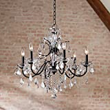 Beverly Dark Bronze Chandelier Lighting 26' Wide Vintage Style Clear Crystal Accents 6-Light Fixture for Dining Room House Entryway Kitchen Bedroom Living Room High Ceilings - Vienna Full Spectrum