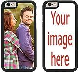 Custom iPhone Cases iPhone 7 Plus, iPhone 8 Plus iZERCASE [Personalized Custom Picture CASE] Make Your Own Phone Case (Black)