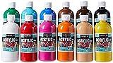 Sargent Art (SARAD) Surtido de pintura acrílica de 16 onzas, 12 colores, botellas,...