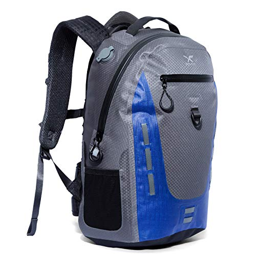 Xelfly 25L Submersipack Waterproof Backpack - Submersible, Inflatable, Floating TPU Coated Durable...