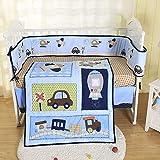 Brandream Boys Crib Bedding Set Baby Vehicle Nursery Bedding 3 Piece Comforter Set with Car Spaceship