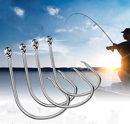 200Pcs Octopus Amo da Pesca Spinato Extra Strong Acciaio Inossidabile Ami per Esche Suicide Offset Sport Circle Hooks Attrezzatura da Pesca 4/0#