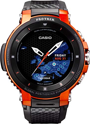 Casio WSD-F30-RG Black Steel 316 L Unisex Watch