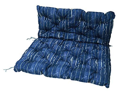 Homecall, cuscino da giardino, colore blu / marrone