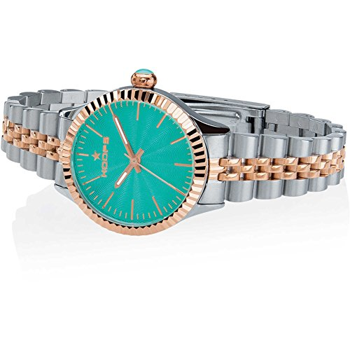 Orologio Donna Luxury Silver & Gold Blu 2560LSRG-03 - Hoops