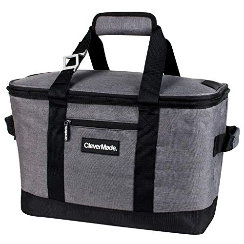 CleverMade Collapsible Cooler Bag: Insulated Leakproof 50 Can...