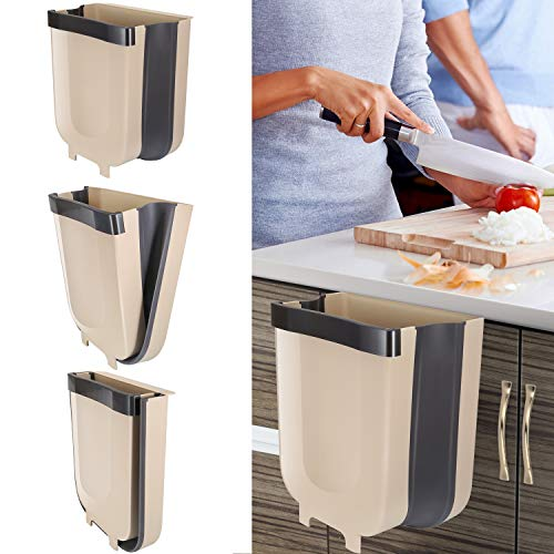 Braoses Hanging Trash Can for Kitchen Cabinet Door, Small...
