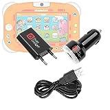 Pack / Kit de charge 3 en 1 rapide et synchronisation micro USB pour tablette / jeu éducatif électronique enfant Videojet Nickelodeon 5054 – câble USB, chargeur secteur et allume-cigare (2 amp)