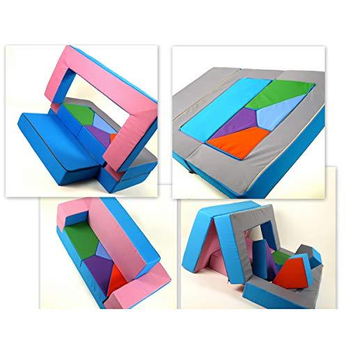 barabike KG01B - Divano-puzzle 4 in 1, ideale per la cameretta dei bambini, da scomporre e...