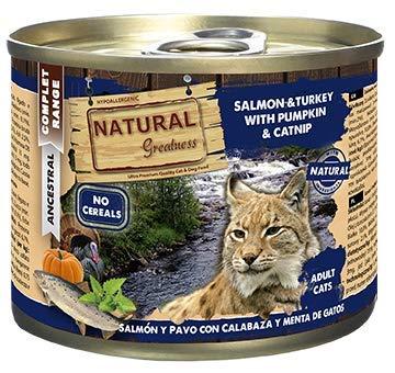 Natural Greatness Comida Húmeda para Gatos de Salmón y Pav