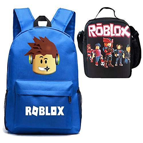 Fashion 1938 Kids Roblox Mochila escolar con aislamiento, mochila para el almuerzo y bolsa para el almuerzo, para niñas, Negro Galaxy, Talla única