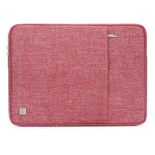 NIDOO 12,5 Pollici Laptop Sleeve Custodia Borsa Custodie Morbide Protettiva Notebook Porta PC Case Portatile Computer Tablet per 13' MacBook Air Retina 2018 / 12.9' iPad Pro / 13.5' Surface, Rosso