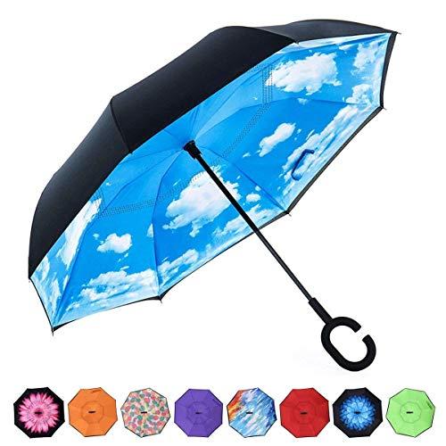 雨の日も晴れの日も♪ とっても便利な逆さ傘 逆さ傘 傘 ワンタッチ 晴雨兼用 さかさ傘 さかさかさ さかさま...