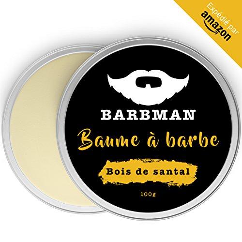 BARBMAN: Balsamo per Barba (100 ml) arricchito con olio di Jojoba e burro di cacao Idratare e nutrire la pelle e la barba. Disciplina la barba dandole luminosità e morbidezza Regalo per uomini barbuti