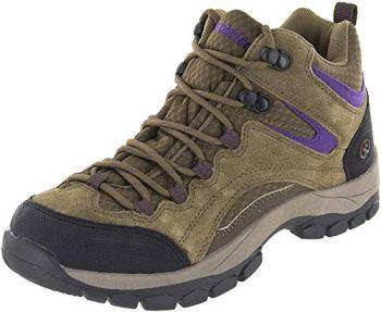 Northside Women's Pioneer-W Hiking Boot, Medium Brown/Dark Purple, 8 M US