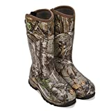 TIDEWE Rubber Hunting Boots with 800g Insulation, Waterproof Insulated Realtree Xtra Camo Warm Rubber Boots with 6mm Neoprene, Durable Outdoor Muck Hunting Boots for Men (Size 11)