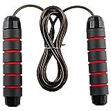 Corde à Sauter, Jump Skipping Rope Réglable avec Roulements à Billes en Acier Ergonomique et Poignée Antidérapante pour Fitness, Crossfit, Gym (Rouge 1PCS)