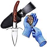 HiCoup Oyster Shucking Knife & Glove - Shucker Kit
