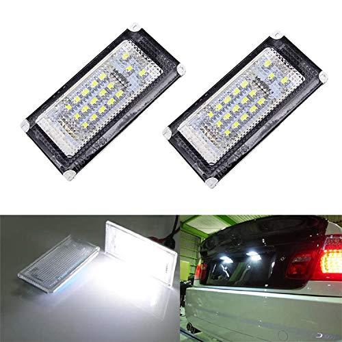 MOLEAQI 2 luci per Targa LED per Auto LED Numero 6000K Lampadina per Lampadina B-MW Mini R50 R52 R53 Cooper S