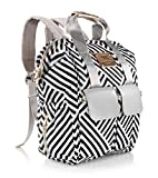 Chevron Diaper Bag Backpack Baby Travelbag with Changing Pad and StrollerStraps