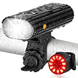 Bike Lights USB Rechargeable, AUOPLUS 800 Lumen Bike Headlight and Taillight Set, Super Bright LED Bicycle Lights Front and Back - Quick Release Cycling Safety Accessories for Men/Women/Kids