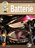 Initiation à la batterie en 3D - 1 Livre + 1 CD + 1 DVD