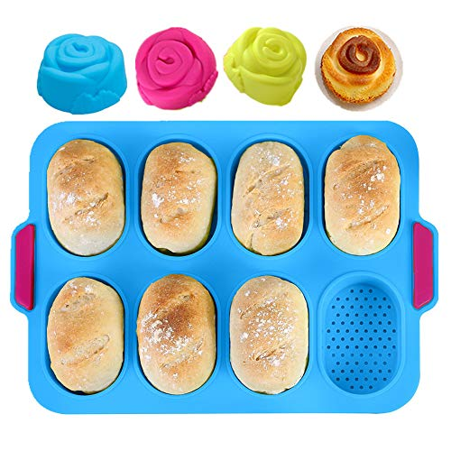 KeepingcooX Mini Baguette Baking Tray, 11x9.5...